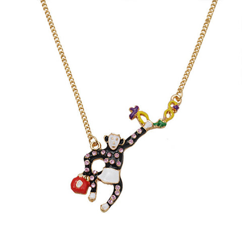 Travelling Monkey Necklace