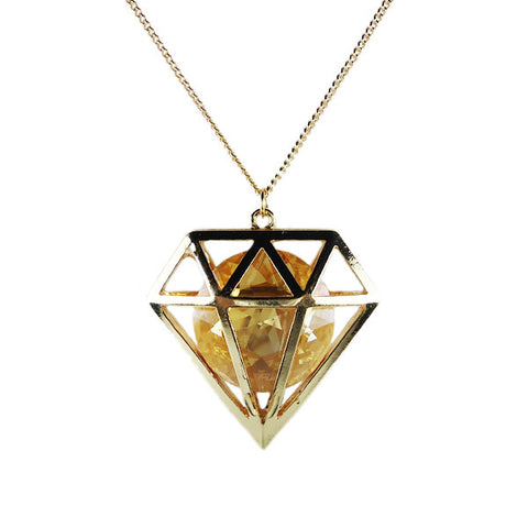 Diamond within Diamond Necklace