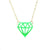 Neon Cutout Diamond Necklace