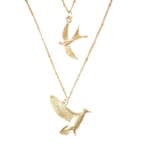 Bird Duo Necklace