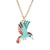 Blue Hummingbird Necklace