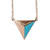 Tricolor Triangle Necklace