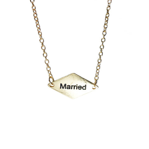 I am Married Necklace