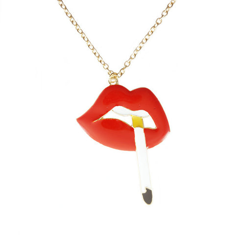 Smoky Lip Necklace