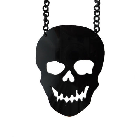 Skull Laser Cut Necklace