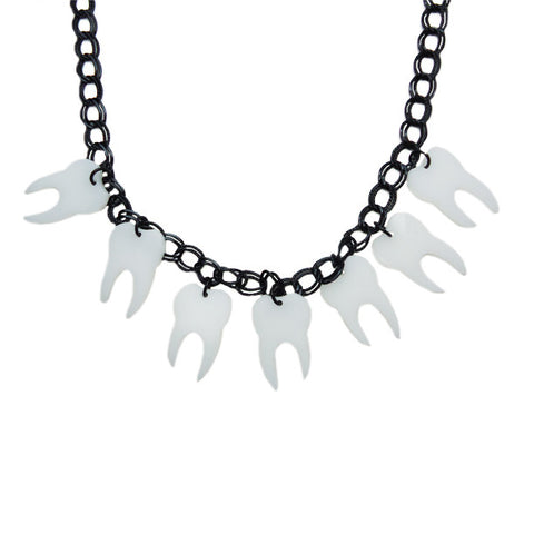 Tooth Collector Laser-Cut Necklace