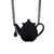 Tea Pot Laser-Cut Necklace