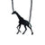 Black Giraffe Laser-Cut Necklace