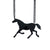 Black Horse Laser-Cut Necklace