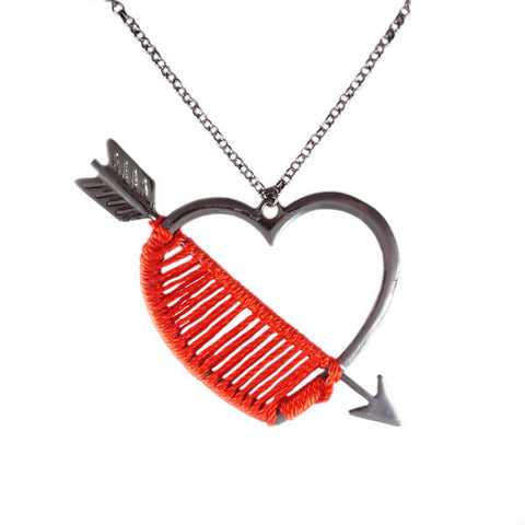 Straight Through My Heart Necklace