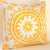 SUZANI Accent Pillow: Yellow on White
