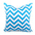 CHEVRON Zigzag Pillow: Turquoise on White