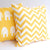 CHEVRON Zigzag Pillow: Yellow on White