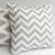 CHEVRON Zigzag Pillow: Storm Grey on White