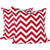 CHEVRON Zigzag Pillow: Red on White