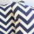 CHEVRON Zigzag Pillow: Navy on White