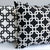 Chain Link Pillow: White on Black