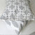 Chain Link Pillow: White on Grey
