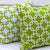 Chain Link Pillow: White on Lime