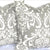 DAMASK Pillow: White on Grey