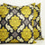 DAMASK Pillow: Yellow and Grey