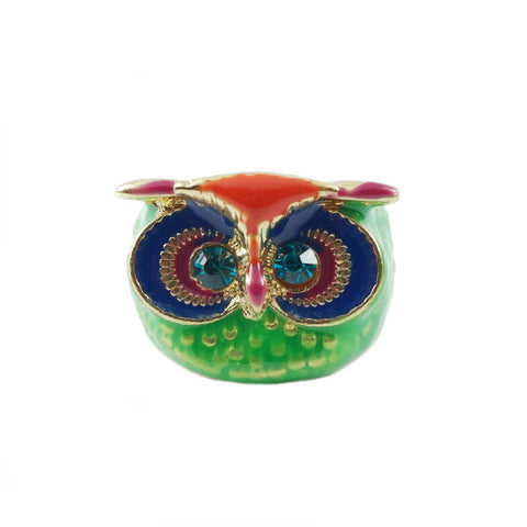 Tropical Owl Ring