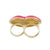Monroe Kiss Two-Finger Ring