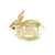 Golden Rabbit 3D Ring