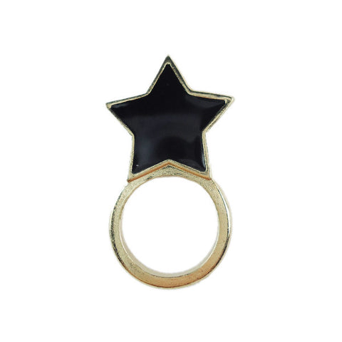 Double Face Star Ring