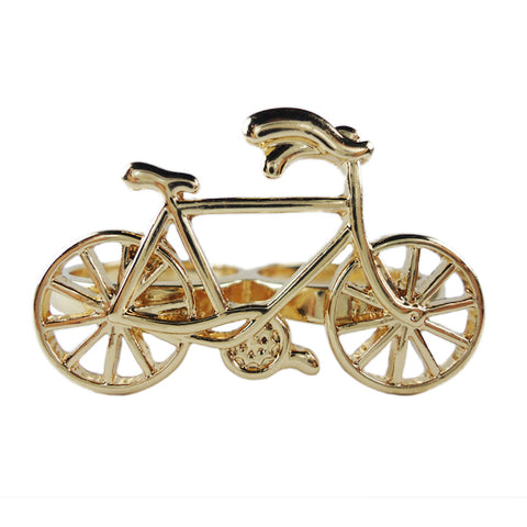 Bicycle Golden Two-Finger Ring