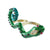 Green Snake Two-Finger Ring
