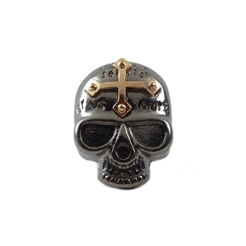 Crucified Skull Ring