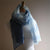 Hand Dyed Gauze Scarf: Pale Blue