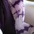 Hand Dyed Gauze Scarf: Purple