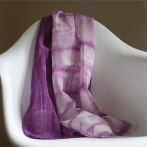 Hand Dyed Gauze Scarf: Violet