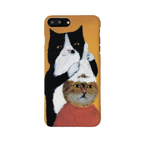 Cat Barber Shop (Orange) Phone Case