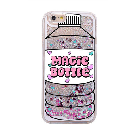 Glitter Waterfall Phone Case - Magic Bottle