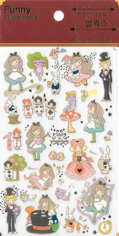 Funny Sticker World: Alice in Wonderland