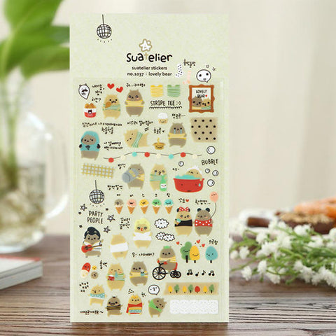 Suatelier Sticker: Lovely Bear