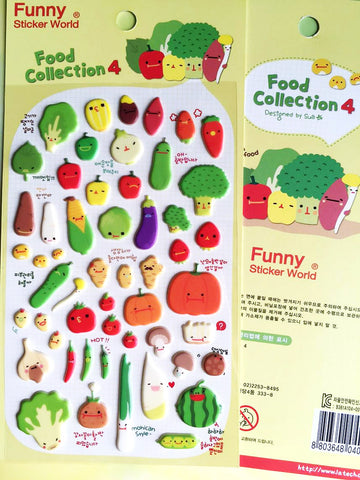 Funny Sticker World: Food Collection 4 Vegetable