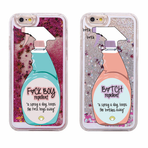 Glitter Waterfall Phone Case - Repellent Spray
