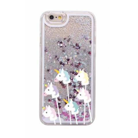 Glitter Waterfall Phone Case - Unicorn Stick
