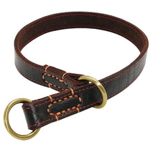 Load image into Gallery viewer, Durable Slip Real Leather Dog Collars Medium Large
