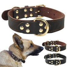 Load image into Gallery viewer, Genuine Leather Dog Collar K9 Working Dog Pet