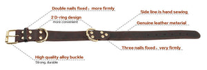 Genuine Leather Dog Collar K9 Working Dog Pet