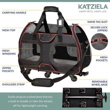 Load image into Gallery viewer, Katziela Airline Approved Wheeled Pet Carrier