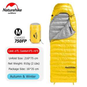 Sleeping Bag 4 Season Square Goose Down