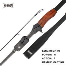 Load image into Gallery viewer, Fishing Rod Kingdom Solo II High Quality Wooden Handle