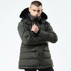 Jacket Casual Long Style Hooded Cotton Padded