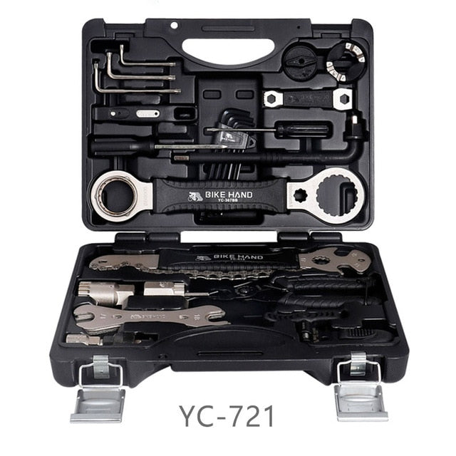 Bicycle Service Tool Kit  18 In 1 Box for Crank BB Bottom Bracket Hub Freewheel Pedal Spoke Chain Repair